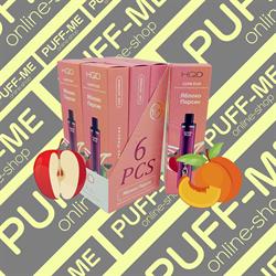 HQD Cuvie PLUS Apple-Peach Яблоко-Персик 1200 затяжек - фото 4779